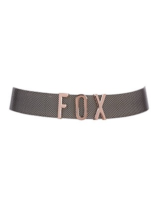 Model in rose gold Luv AJ The Foxy Rose Belt Gold