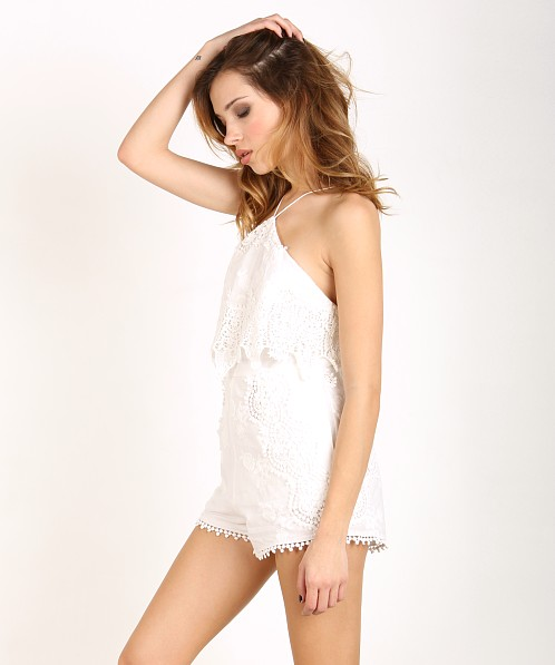 The Jetset Diaries Paradise Romper Ivory