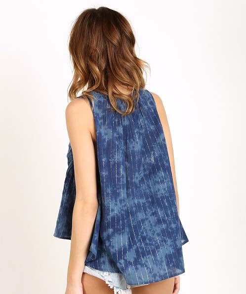 Amuse Society Marielle Woven Shirt Indy Blue