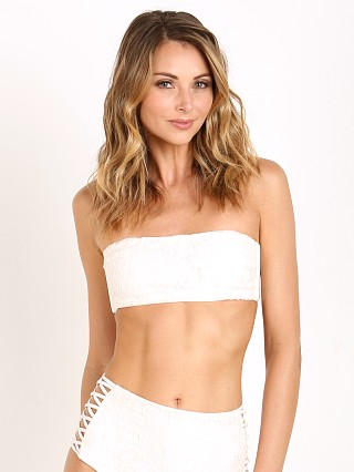 Amuse Society Whitney Stretch Lace Bikini Top Casa Blanca