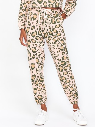 Model in cheetah sister terry Show Me Your Mumu Huxley Pants