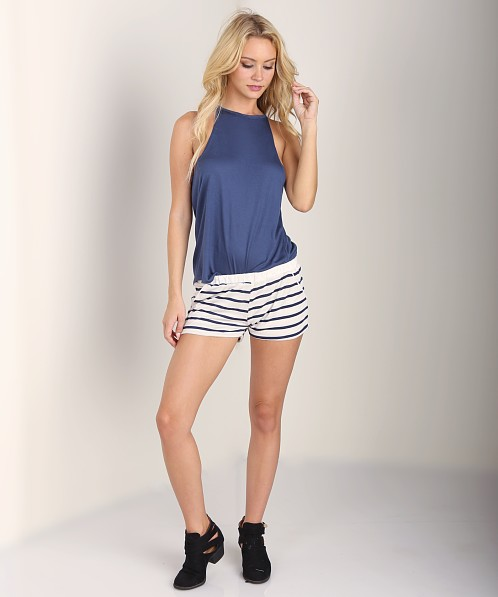 LNA Clothing Byron Short Natural/Navy Stripe