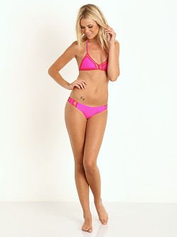 Acacia Andy Crochet Triangle Bikini Top Guava Pop