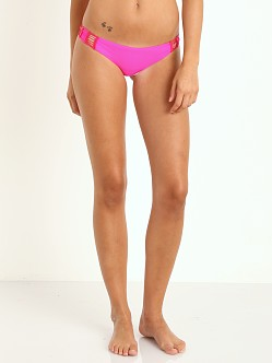 Acacia Gili Crochet Bikini Bottoms Guava Pop