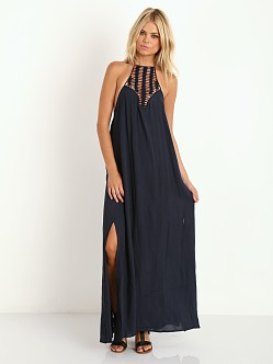 Acacia Positano Crochet Neck Long Dress Indigo