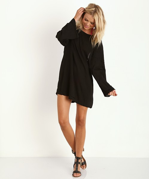 Acacia Tortolla Short Long Sleeve Dress Storm