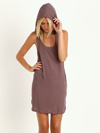 Acacia Tokyo Short Sleeveless Hooded Dress Fig