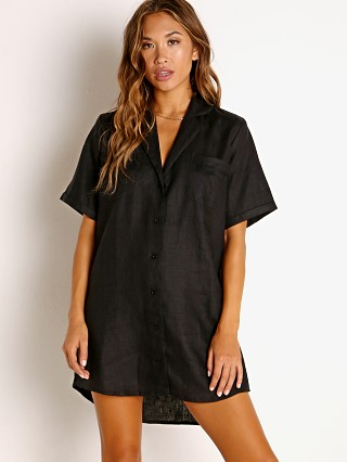 Faithfull the Brand Caldera Shirt Dress Black
