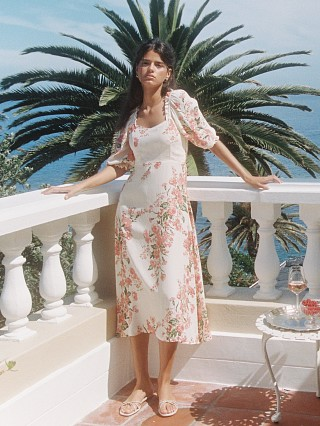 Faithfull the Brand Bronte Midi Dress Magnolia Floral Print