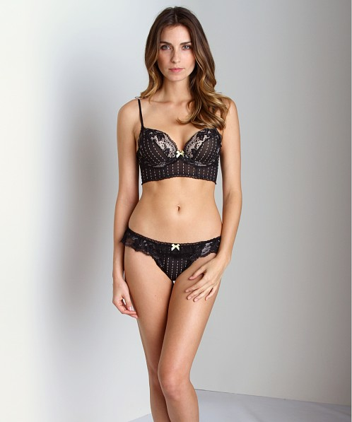 93f3d334fa Elle Macpherson Intimates Sultry Dreams Thong Jet E37-1043 - Free Shipping  at Largo Drive