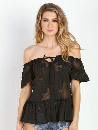 For Love & Lemons Pina Colada Top Black