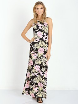 For Love & Lemons Palms Maxi Dress Pastel Palm Floral