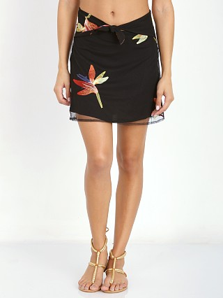 For Love & Lemons Birds of Paradise Skirt Black