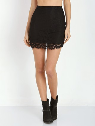 For Love & Lemons Tiki Bar Skirt Black