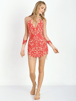 For Love & Lemons Luau Mini Dress Red & Nude