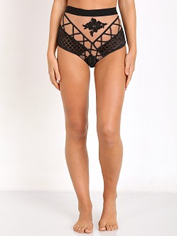 SKIVVIES by For Love & Lemons Delilah Hi-Waist Panty Black/Nude