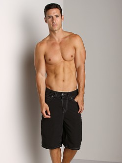 True Religion PCH Board Shorts Black
