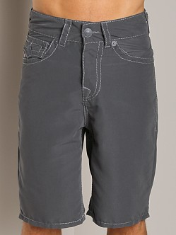 True Religion PCH Board Shorts Charcoal