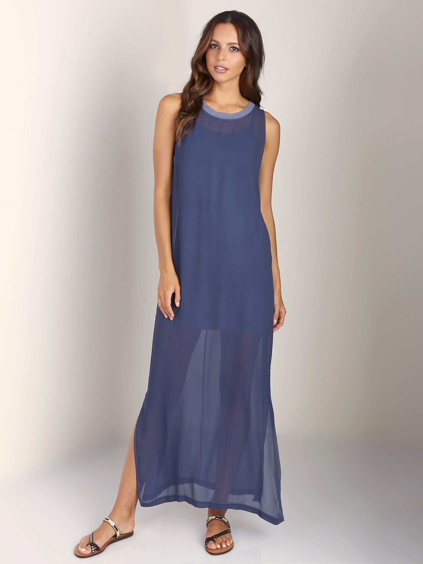 LACAUSA Dad s Shirtdress Vintage Blue LA30001 - Free Shipping at Largo Drive 00e527467