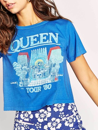 Daydreamer Queen In Concert Rebel Crop Top Royal