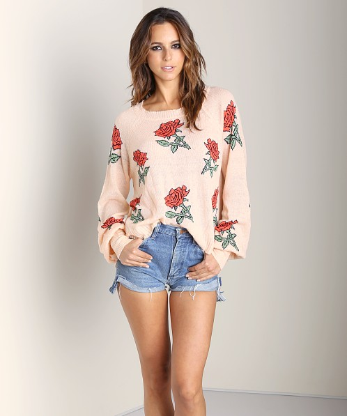 WILDFOX A Rose Is a Rose Sweater Baby