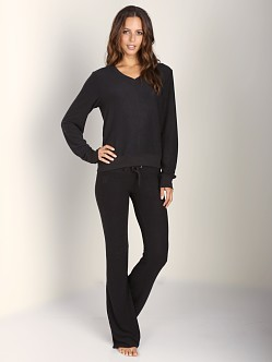 WILDFOX V Neck Baggy Beach Jumper Jet Black