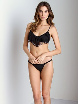 Mara Hoffman Beaded String Bikini Bottom Black