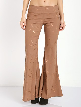 Model in gold rush Flynn Skye Patty Pant