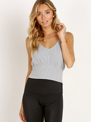 Spiritual Gangster Banded Crop Tank Heather Grey