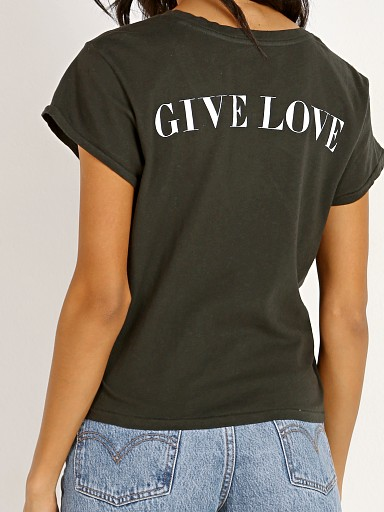 Spiritual Gangster Give Love Crew Tee Vintage Black