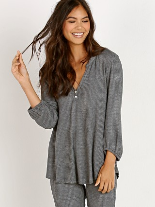 Eberjey Ula Peasant Top Dark Heather