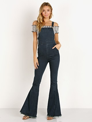 Show Me Your Mumu Berkeley Bell Overalls Dark Rainstorm