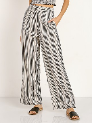 Model in highway stripe flux Show Me Your Mumu Archie Trouser