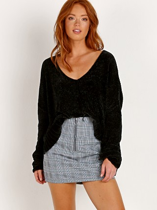 Show Me Your Mumu Hug Me Crop Sweater Black