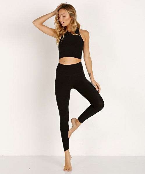 Beyond Yoga Across The Straps High Waisted Midi Legging Darkest