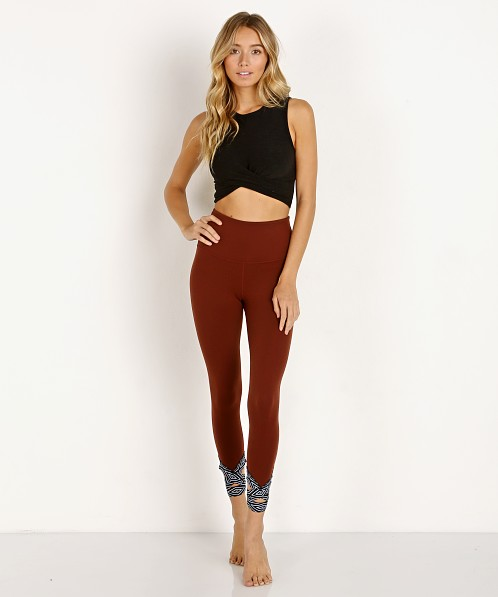 Beyond Yoga Badlands High Waisted Midi Leggings Redrock