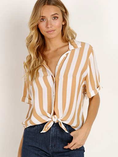 Faithfull the Brand Toulin Shirt Memphis Stripe