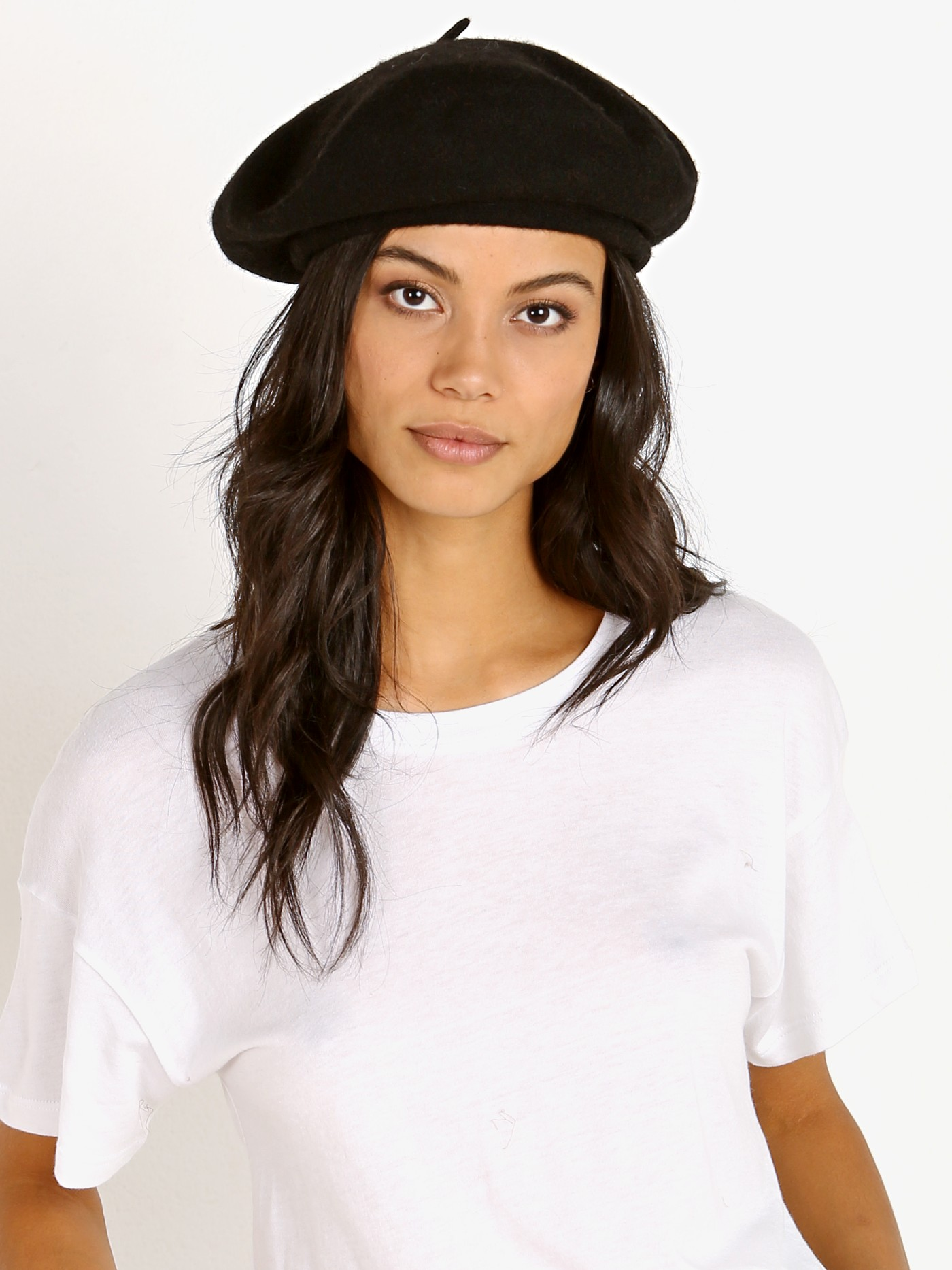 54aaccd85ae87 Brixton Audrey Beret Black 00192-Black - Free Shipping at Largo Drive