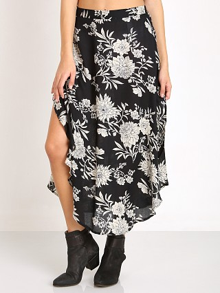 Amuse Society Corsica Skirt Black Sands Floral