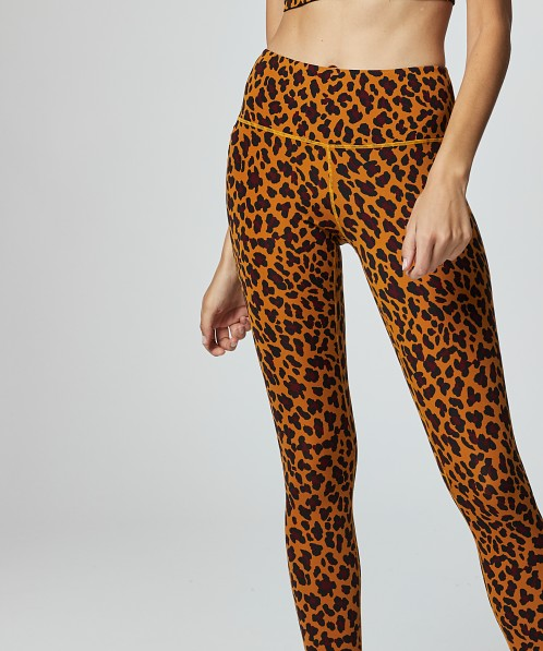 Varley Century Legging Yellow Cheetah