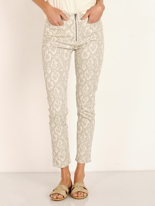 Model in snakeskin Brixton Slater Zip  Pant