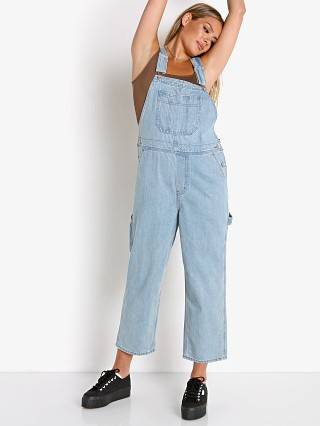Brixton Christina Cropped Overall Faded Indigo