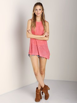 291 Venice Asymetrical Muscle Tee Grapefruit