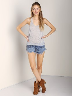 291 Venice Fluid Racerback Tank Heather Grey