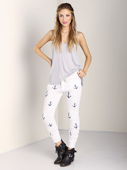 291 Venice Relaxed Slouchy Anchor Sweatpant White
