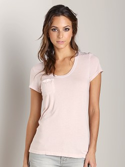Cotton Citizen Scoop Neck Pocket Tee Blush-Pinkish
