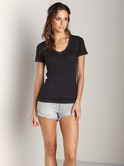 Cotton Citizen V Neck Tee Black
