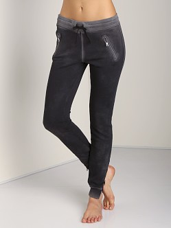 Cotton Citizen Slim Sweats with Ankle Zipper Black