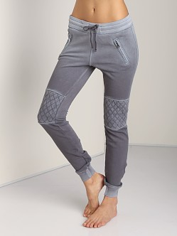 Cotton Citizen Slim Sweats with Quilted Knee Steel