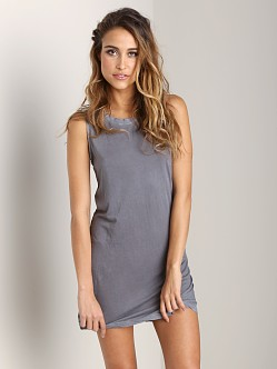 Cotton Citizen Sleeveless Mini Dress Steel